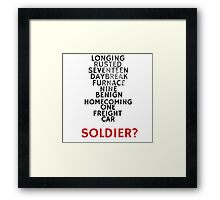 Winter Soldier Activation Code Words - Textured Framed Print