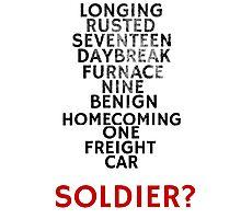 Winter Soldier Activation Code Words - Textured Photographic Print