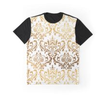 Rossi Damask in Faux Gold Graphic T-Shirt