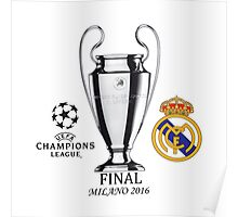 HOT ITEM Real Madrid UEFA Champions League 2016 Final Poster