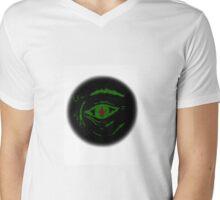 Luminescent Eye: Open Green Mens V-Neck T-Shirt
