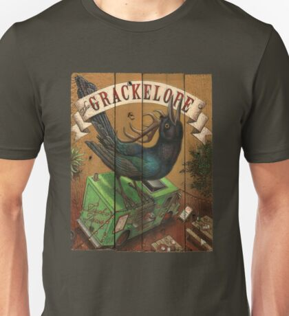The Grackelope (color painting) Unisex T-Shirt