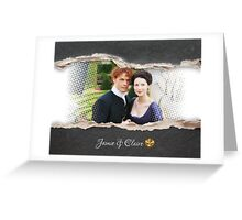 Jamie and Claire Fraser/Paper tear frame Greeting Card