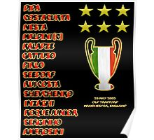 AC Milan 2003 Champions League Final Winners Poster