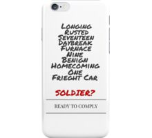 Winter Soldier Activation Code Words - Plain iPhone Case/Skin