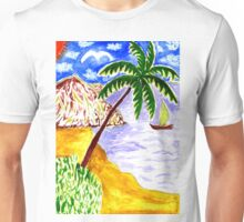 Beach Scene Art 3 Unisex T-Shirt