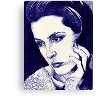 Gillian Anderson ballpoint Canvas Print