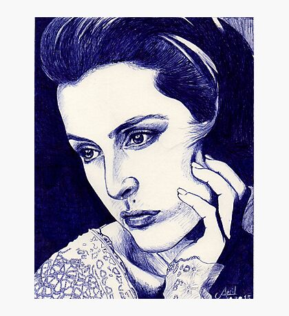 Gillian Anderson ballpoint Photographic Print