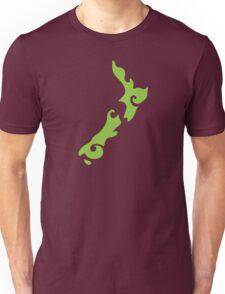 New Zealand tattoo stylized map in green Unisex T-Shirt