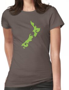 New Zealand tattoo stylized map in green Womens Fitted T-Shirt