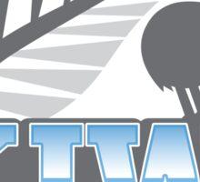 KIWI AZ with New Zealand kiwi bird rugby ball and silver fern Sticker