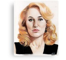 Gillian Anderson color pencil Canvas Print