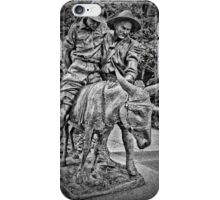 Simpson And His Donkey, 1915 (B&W) iPhone Case/Skin