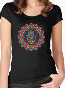 Hamsa Harmony Mandala Women's Fitted Scoop T-Shirt