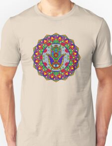 Hamsa Harmony Mandala Unisex T-Shirt