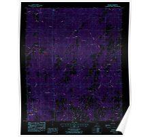 USGS TOPO Map Alabama AL Dexter 303680 1987 24000 Inverted Poster