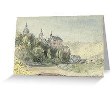 William Callow, R.W.S. (Greenwich  Great Missenden)   View of Schloss Weilburg on the Lahn, Germany Greeting Card