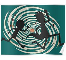 rick n morty runing Poster