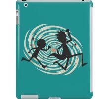 rick n morty runing iPad Case/Skin
