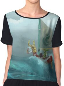 Quickly BOAT! Chiffon Top