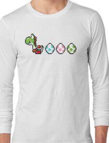 8-bit Yoshi Story  Long Sleeve T-Shirt