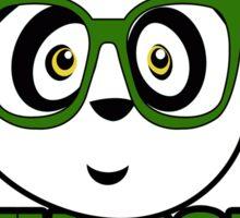Panda University - Green 2 Sticker