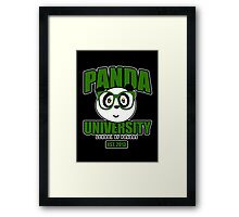 Panda University - Green 2 Framed Print