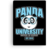 Panda University - Blue 2 Canvas Print