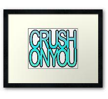 Crush on You Ocean halftone 1 Framed Print