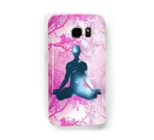 Floating Yogi in the Trees in magenta Samsung Galaxy Case/Skin
