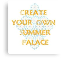 Summer Prints { Create Your Own Summer Palace } Canvas Print