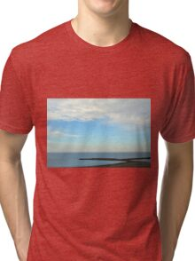 Natural image with beautiful seaside and cloudy sky. Tri-blend T-Shirt