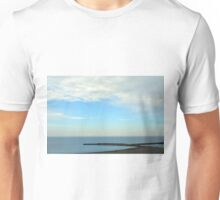 Natural image with beautiful seaside and cloudy sky. Unisex T-Shirt
