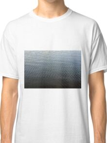 Texture of ripples in the water. Classic T-Shirt