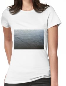Texture of ripples in the water. Womens Fitted T-Shirt