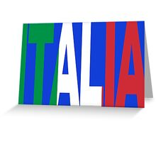 Italia Patriot Greeting Card