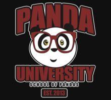 Panda University - Red Kids Clothes