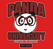 Panda University - Red Kids Clothes
