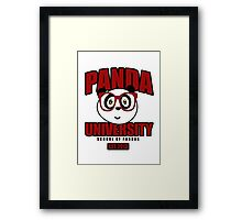 Panda University - Red Framed Print