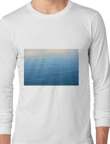 Texture of ripples in the water. Long Sleeve T-Shirt