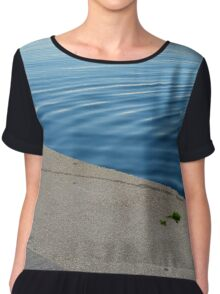 Ripples in the blue water. Chiffon Top