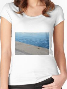 Ripples in the blue water. Women's Fitted Scoop T-Shirt