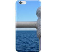 Detail of white handrail by the sea. iPhone Case/Skin