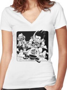 DB Women's Fitted V-Neck T-Shirt