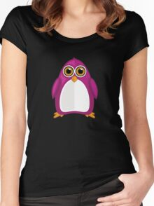Violet Penguin 2 Women's Fitted Scoop T-Shirt