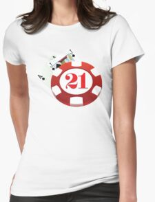 Blackjack Womens Fitted T-Shirt