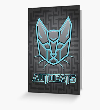 Autocats Transformers Greeting Card