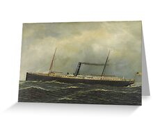 Antonio Jacobsen - Steamship Seguranca,  Greeting Card