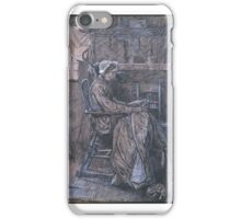 Arthur Boyd Houghton  Title Old Woman Seated in a Chair, iPhone Case/Skin