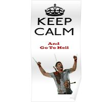 Dean Winchester in Hell Supernatural Poster